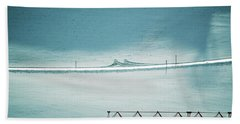 Beach Towel featuring the photograph Designs And Lines - Winter In Switzerland by Susanne Van Hulst