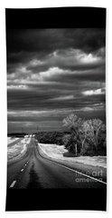 Desolate Highway Beach Towel