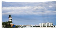 Destin Harbor  Beach Sheet by Debra Forand