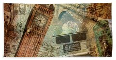Destination London Beach Towel
