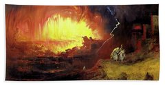 Destruction Of Sodom And Gomorah Beach Towel