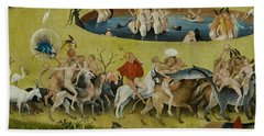 Detail From The Central Panel Of The Garden Of Earthly Delights Beach Sheet by Hieronymus Bosch