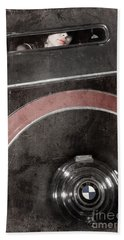 Beach Towel featuring the photograph Detail Of A Vintage Car. by Andrey  Godyaykin