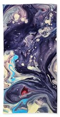 Beach Towel featuring the painting Detail Of Fluid Painting 1 by Robbie Masso