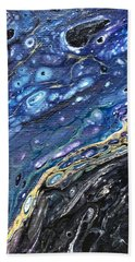 Beach Towel featuring the painting Detail Of He Likes Space 3 by Robbie Masso
