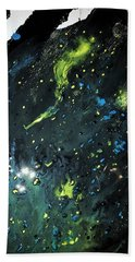 Beach Towel featuring the painting Detail Of Mixed Media Painting 2 by Robbie Masso