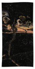 Beach Towel featuring the painting Detail Of New Orleans Saxophone by Robbie Masso