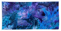 Beach Towel featuring the painting Detail Of Waves 5 by Robbie Masso