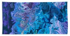 Beach Towel featuring the painting Detail Of Waves 6 by Robbie Masso