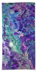 Beach Towel featuring the painting Detail Of Waves by Robbie Masso