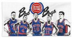 Detroit Bad Boys Pistons Beach Sheet