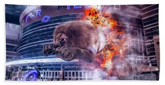 Beach Towel featuring the photograph Detroit Lions At Ford Field 2 by Nicholas Grunas