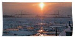 Detroit River Sunset Beach Sheet