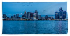 Detroit Skyline Beach Towel