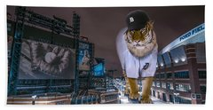 Detroit Tigers At  Comerica Park Beach Towel by Nicholas  Grunas
