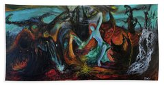 Beach Towel featuring the painting Devils Gorge by Christophe Ennis