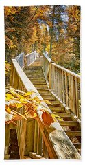 Devil's Kettle Stairway Beach Towel