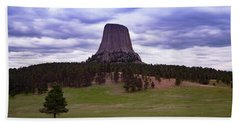 Beach Towel featuring the photograph Devil's Tower 2 by Gary Lengyel