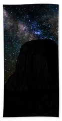 Devils Tower And Milky Way Beach Towel
