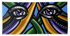 Colorful Eye Art Paintings Abstract Eye Painting Chromatic Artwork Beach Sheet