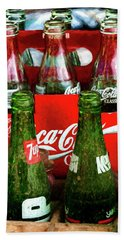 Beach Towel featuring the photograph Dew 7-up N Coke by Trey Foerster