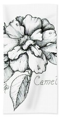 Dew Kissed Camellia Beach Towel