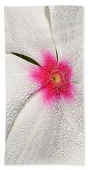 Dew-sprinkled Periwinkle Beach Towel