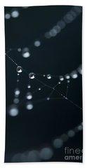 Dewdrop On Cobweb 002 Beach Sheet