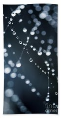 Dewdrops On Cobweb 003 Beach Towel
