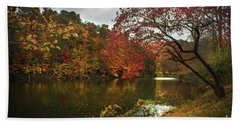 Dewey Lake In Autumn Beach Sheet