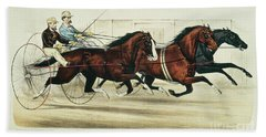 Horse And Buggy Beach Towels