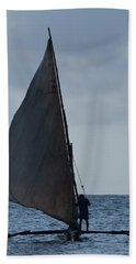 Dhow Wooden Boats In Sail Beach Towel