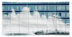 Beach Sheet featuring the photograph Dia Hotel Reflection by Joe Bonita