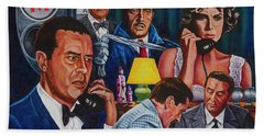 Beach Sheet featuring the painting Dial M For Murder by Michael Frank