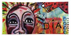 Dialogue Between Red Dawg And Wildwoman-self Beach Towel