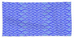 Diamond Eyes Cobalt Beach Towel