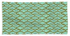 Diamond Eyes Olive Beach Towel