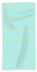 Diamond Rain Aqua Beach Towel