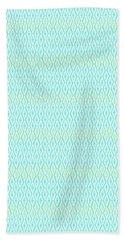 Diamond Rain Aqua Beach Towel