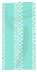 Diamond Rain Teal Stripes Beach Towel