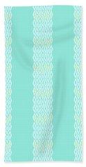 Diamond Rain Teal Stripes Beach Towel