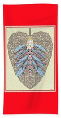 Beach Towel featuring the digital art Diamond Trump, The Insect Faerie by Lise Winne