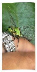 Diamonds Are A Dragonflies Best Friend Beach Sheet