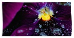 Diamonds On A Pansy Beach Towel by Rachel Mirror
