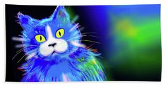 Diego Blue Dizzycat Beach Sheet by DC Langer