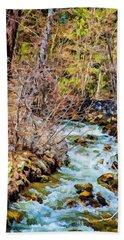 Diffused Dream Beach Towel by Nancy Marie Ricketts