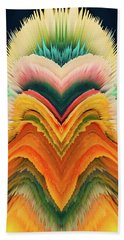 Beach Towel featuring the photograph Vivid Eruption by Colleen Taylor