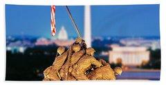 Digital Composite, Iwo Jima Memorial Beach Towel