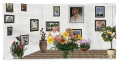 Digital Exhibition _ Flowers In A Vase Beach Sheet