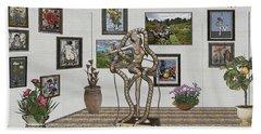Digital Exhibition _ Modern  Statue 1   Of Dancing Girl Beach Sheet